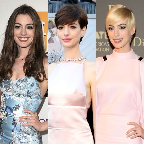 anne hathaway hair color pictures popsugar beauty
