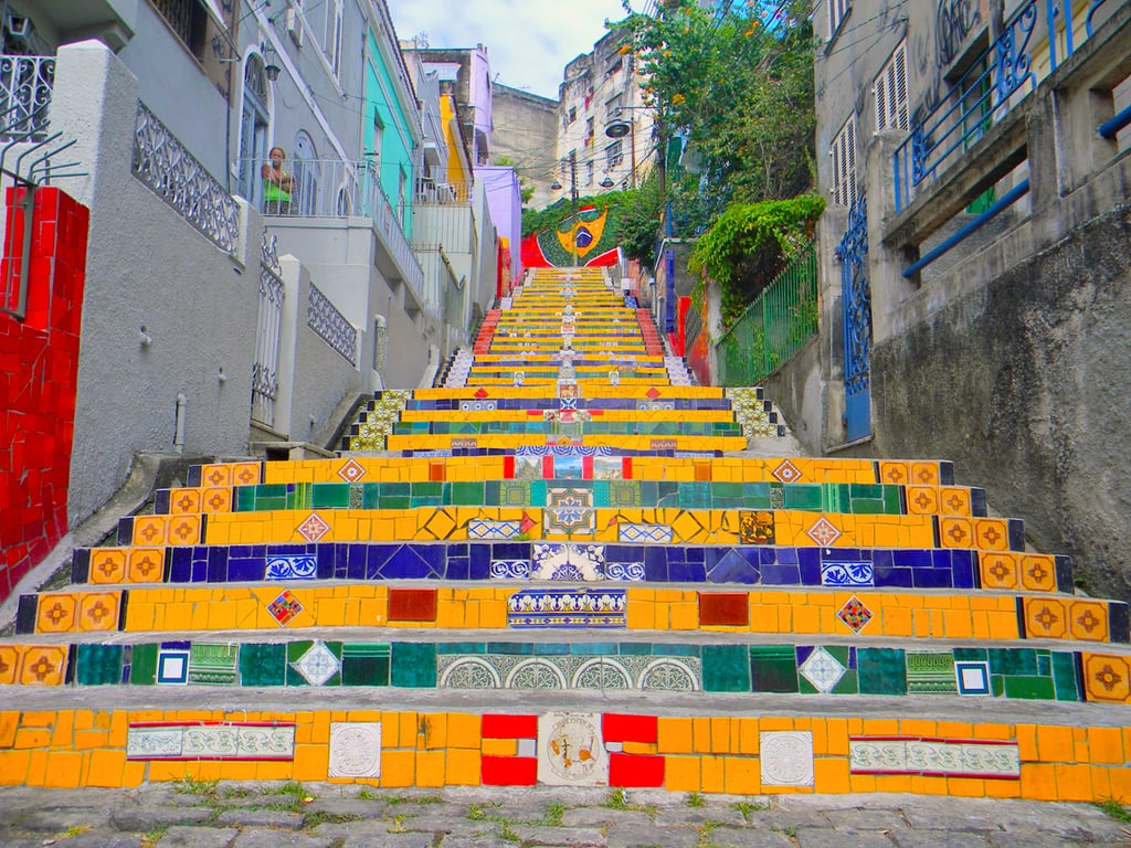 Escadaria Selaron: The Lapa Steps downtown feature colorful mosaics created by Chilean artist Jorge Selarón that should not be missed. Arcos de Lapa: The aqueduct arches are a great pit stop for a memorable picture on your way out to one of Lapa's many clubs. Santa Teresa: For a true taste of Rio's artistic vibes, check out this neighborhood located atop the hills of the city. The bright colonial houses are a sight to be seen from one of the cobblestone streets.