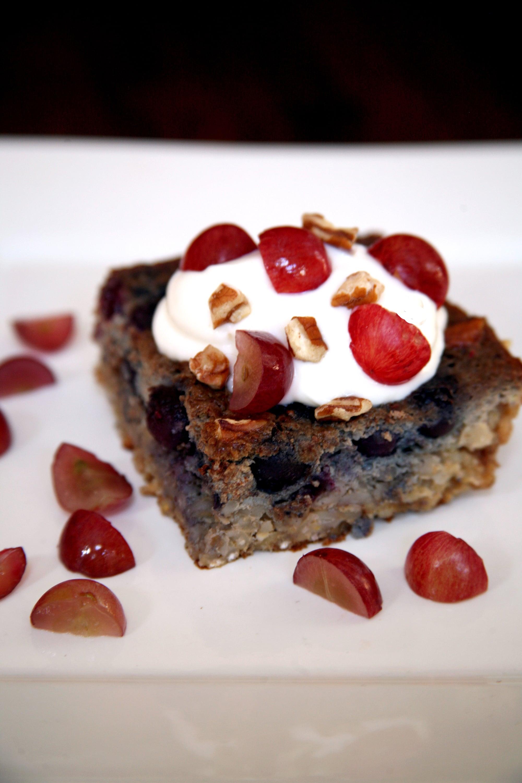 Blueberry Grape Barley Breakfast Slice | POPSUGAR Fitness ...