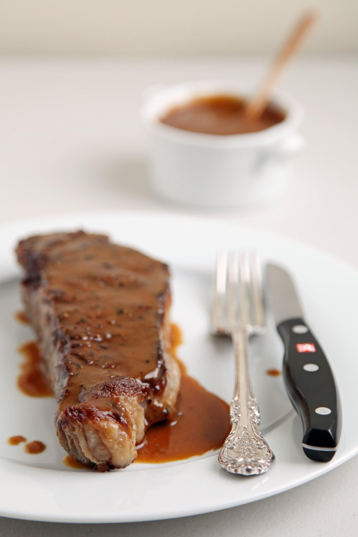 Make New York Strip Steak Slicked With Miso Mustard Sauce