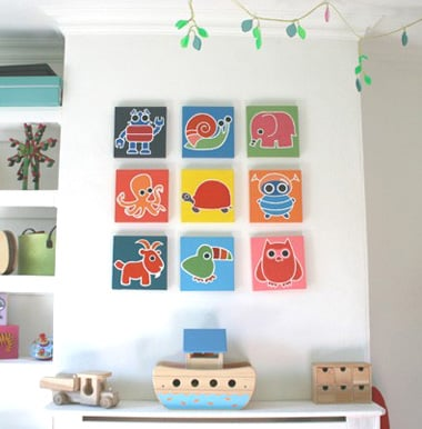 Funky munchkin canvas art popsugar moms for Funky wall art