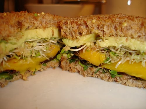Avocado and Mango Sandwiches With Cilantro-Lime Mayonnaise