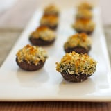 Mushrooms Stuffed With Creamy Spinach-Artichoke Filling