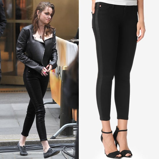 Kristen Stewart Wearing Black Tuxedo Jeans | POPSUGAR Fashion