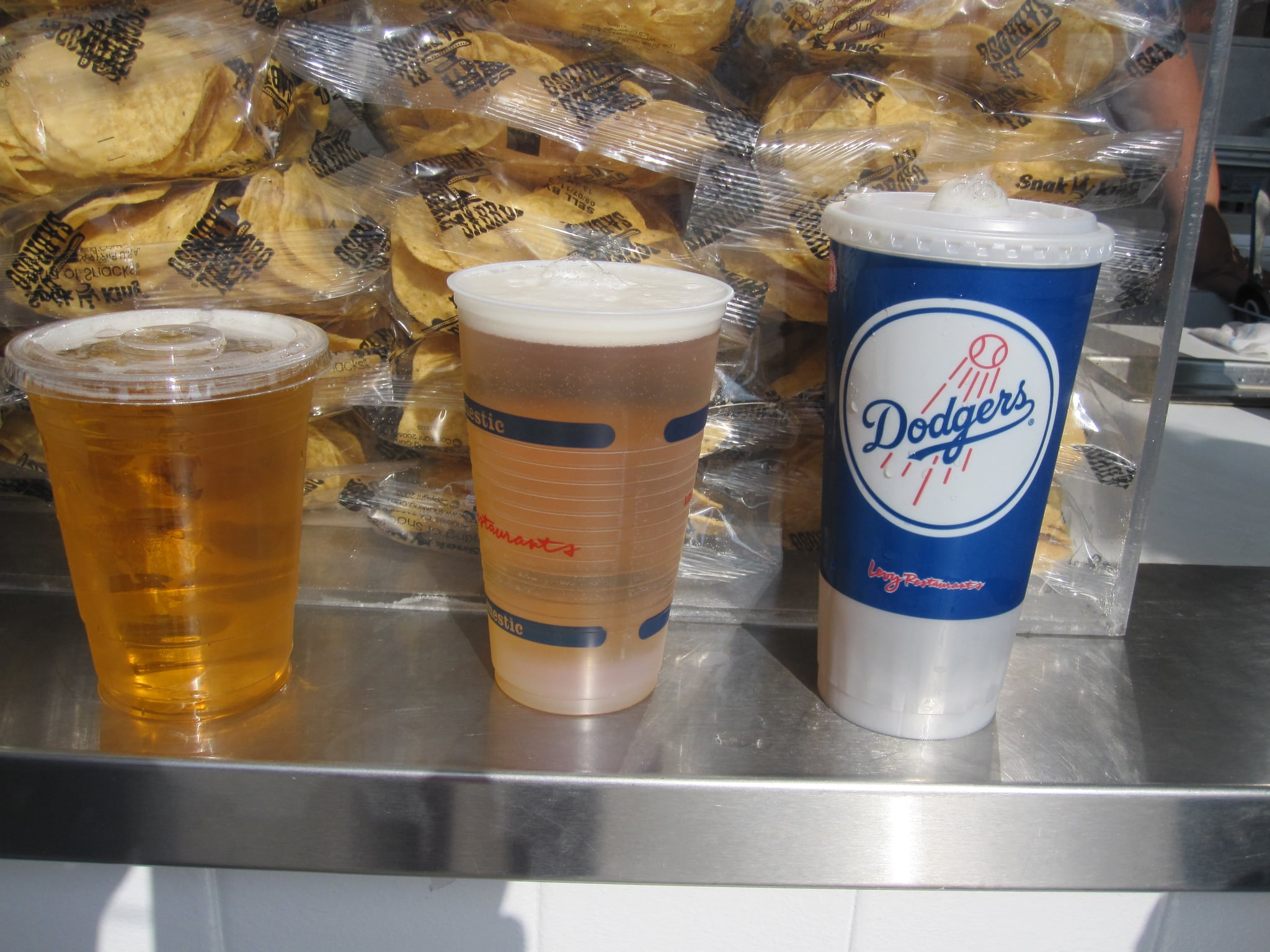 The small, regular, and large beers . . . don't look that different.