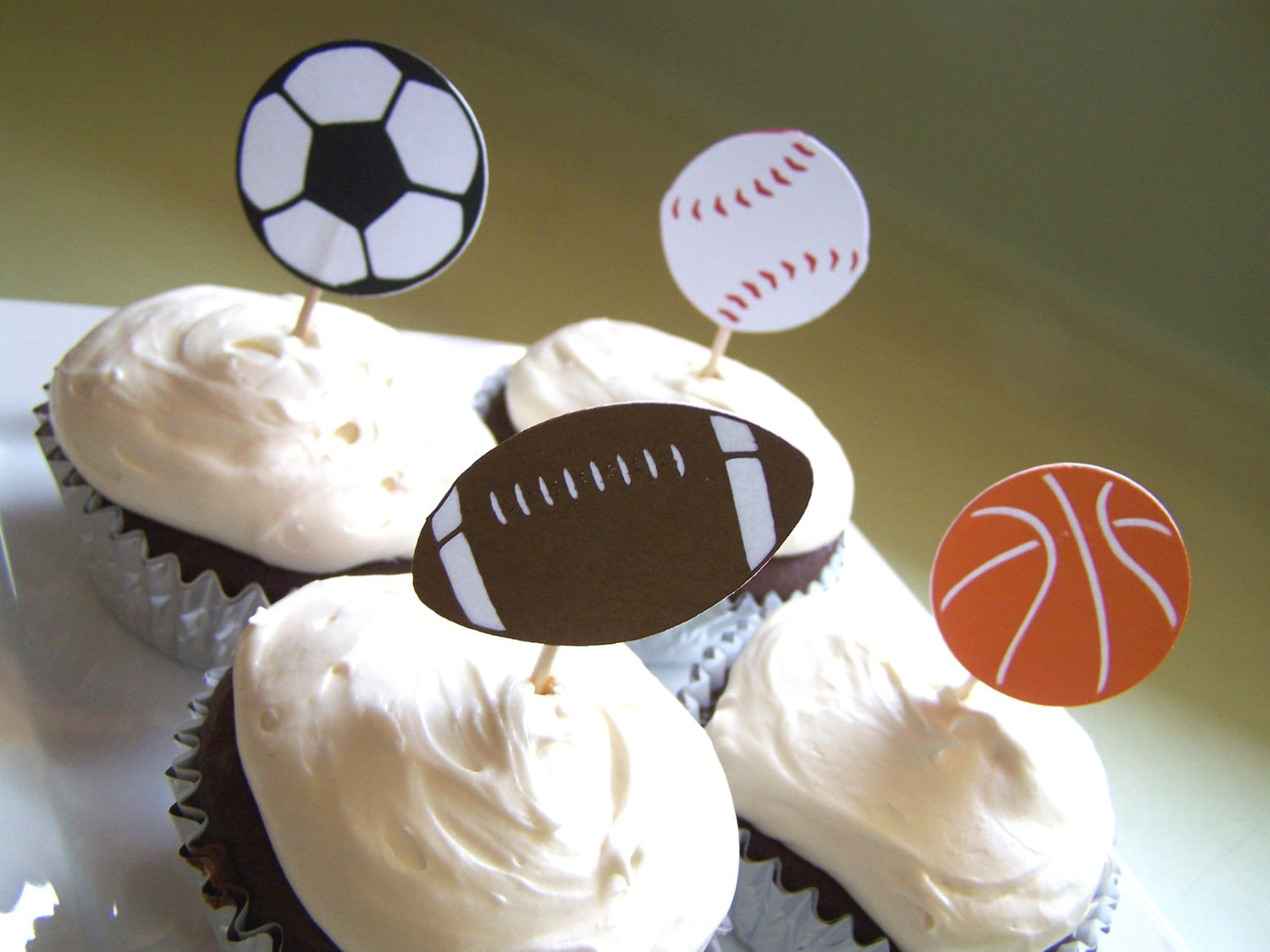 Sports Cupcake Toppers ($8)