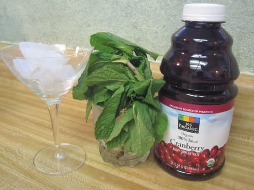 Cranberry Mint Martini