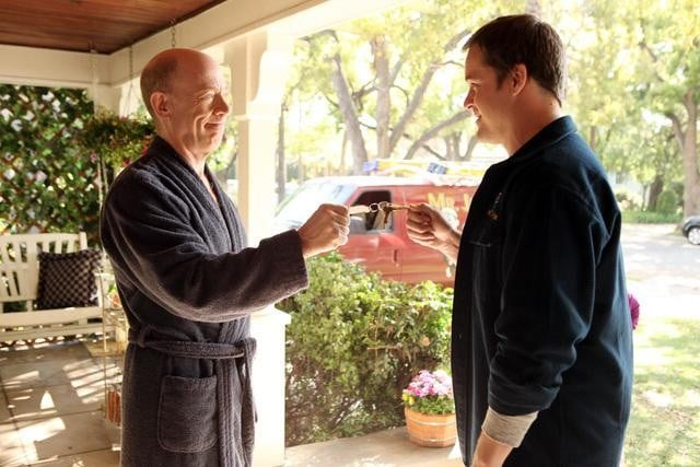 J.K. Simmons and Kyle Bornheimer in Family Tools.