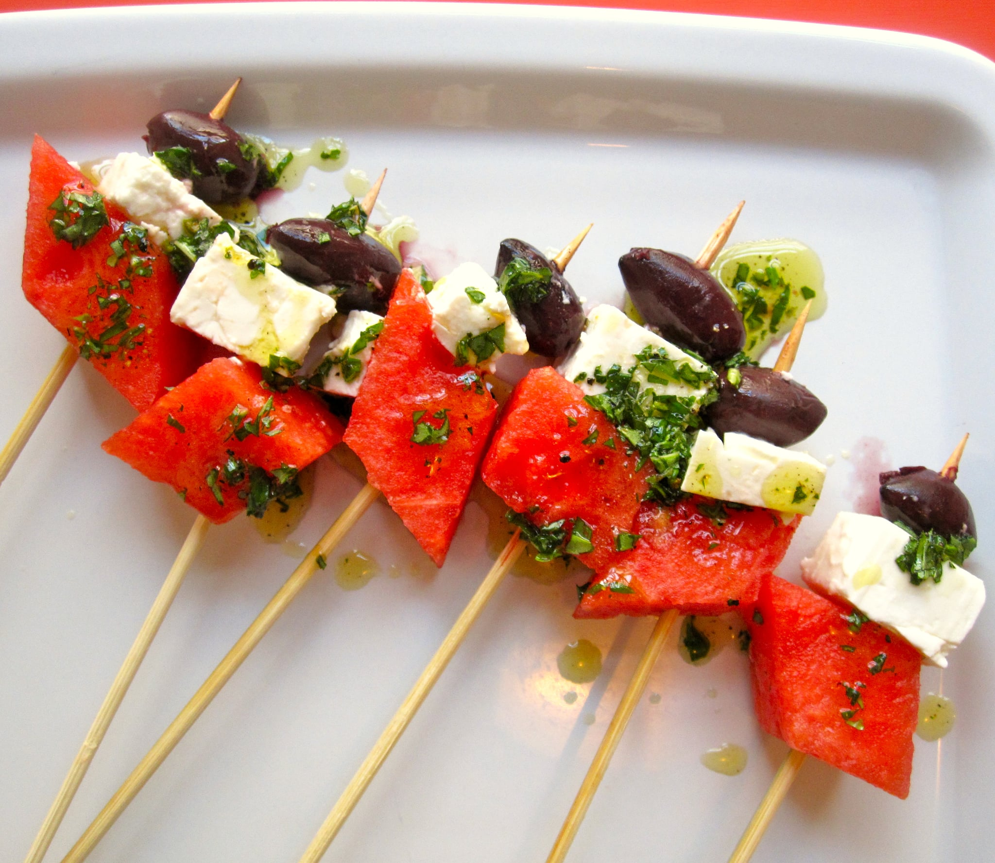 Popsugar Food: Watermelon And Feta Skewers Recipe