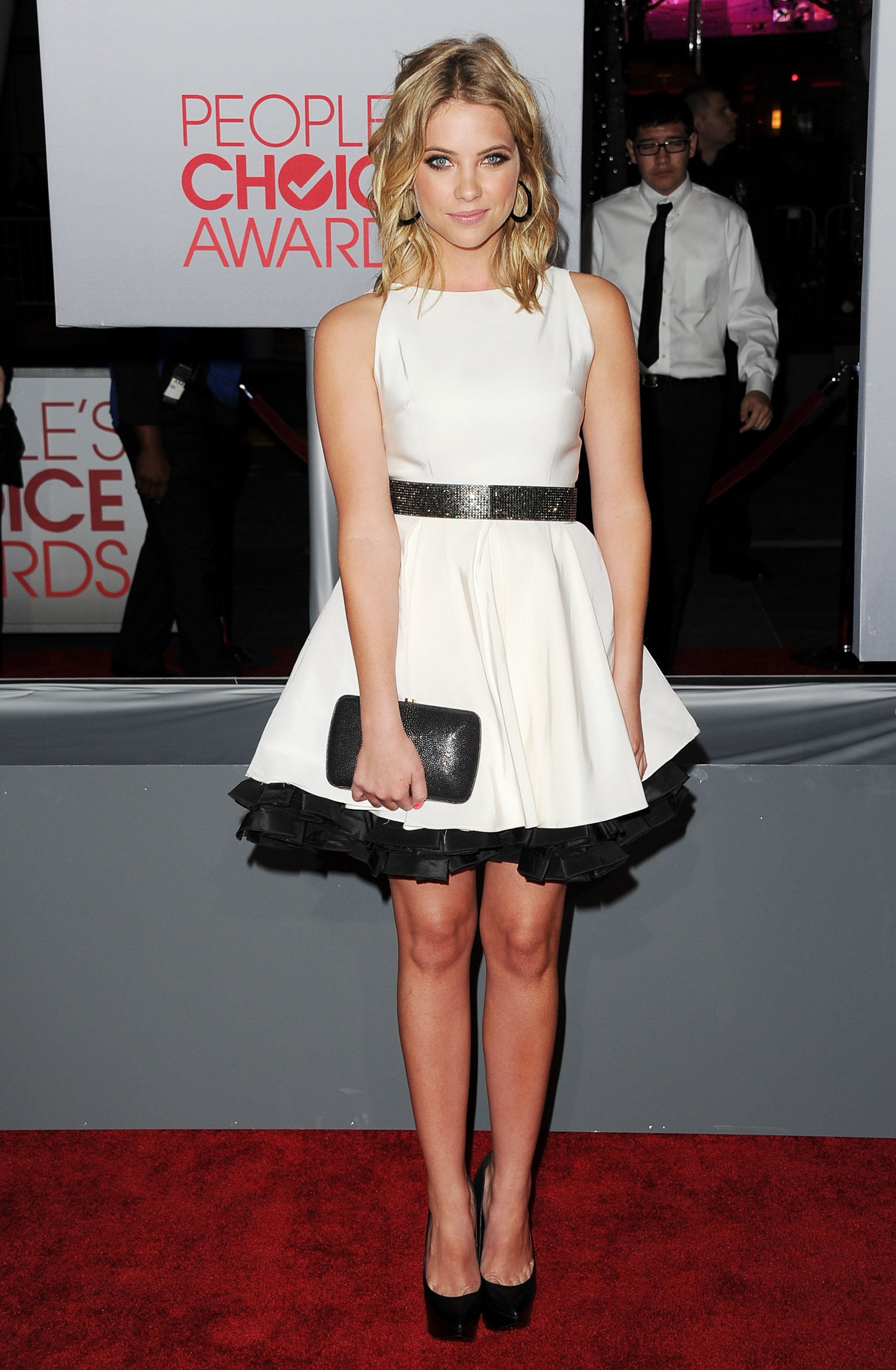 Ashley Benson was in black and white.