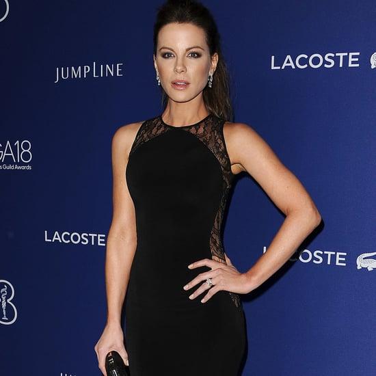 Kate Beckinsale's Black Lace Hamel Gown   2016