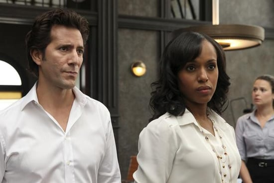 Henry Ian Cusick and Kerry Washington in Scandal.