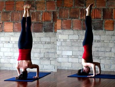strike a yoga pose tripod headstand  popsugar fitness