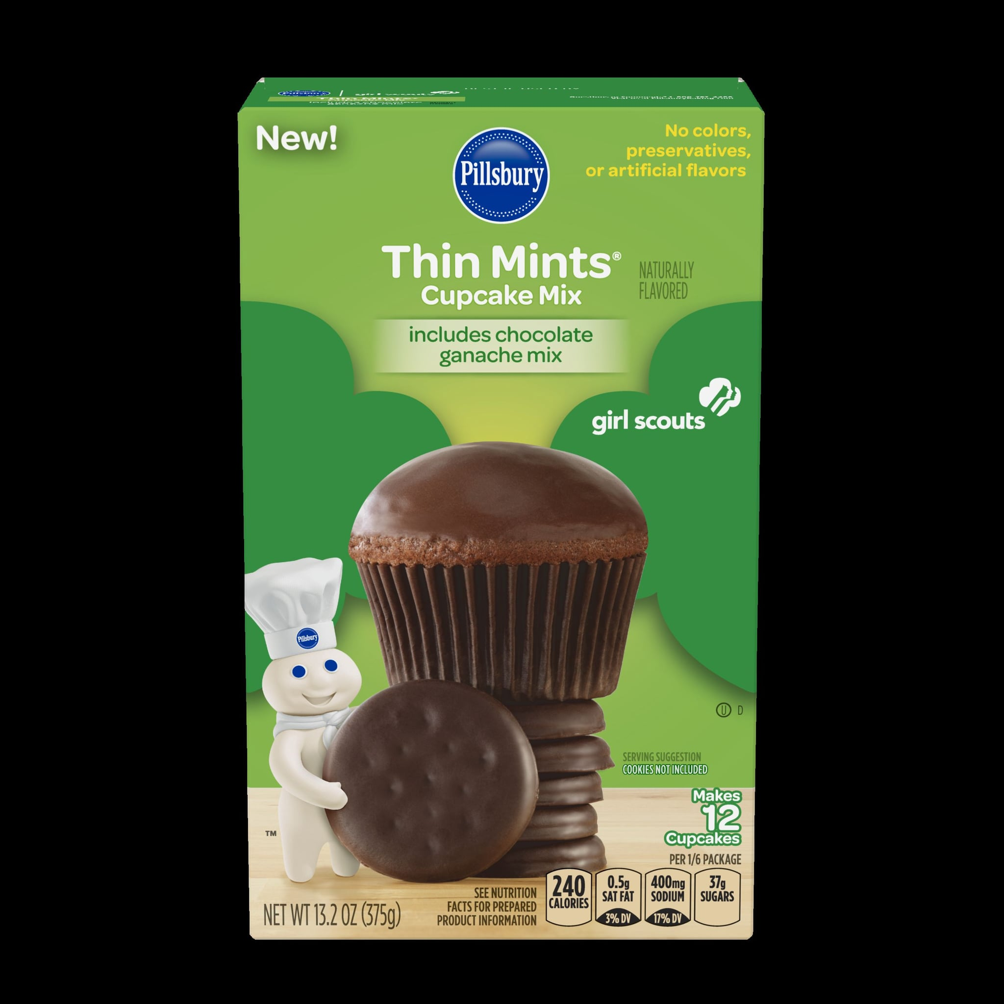 pillsbury girl scout cookie flavored baking mixes