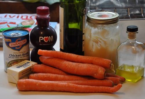 Pomegranate-Balsamic Glazed Carrots