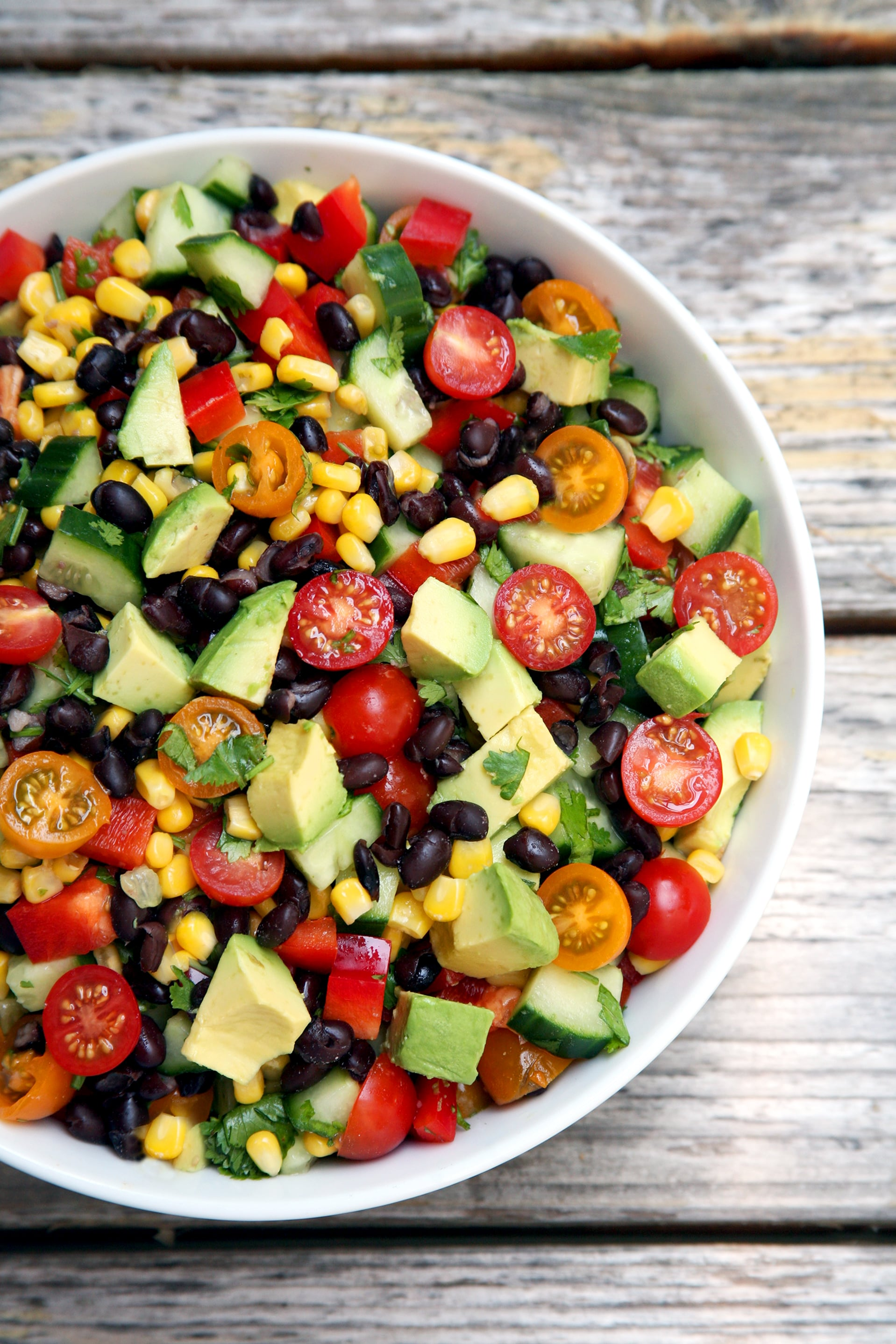 Cucumber, Black Bean, Corn, Tomato, and Avocado Salad - POPSUGAR FitnessThe Easiest and Most Satisfying Salad You'll Ever Make - 웹