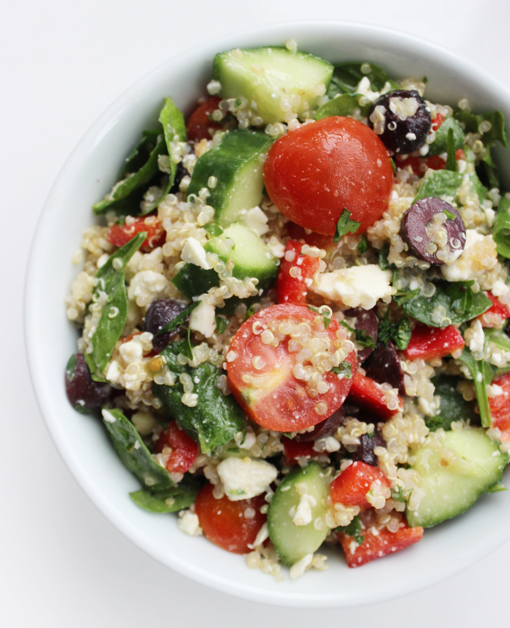 A Vegetarian Quinoa Salad With Over 15 Grams of Protein