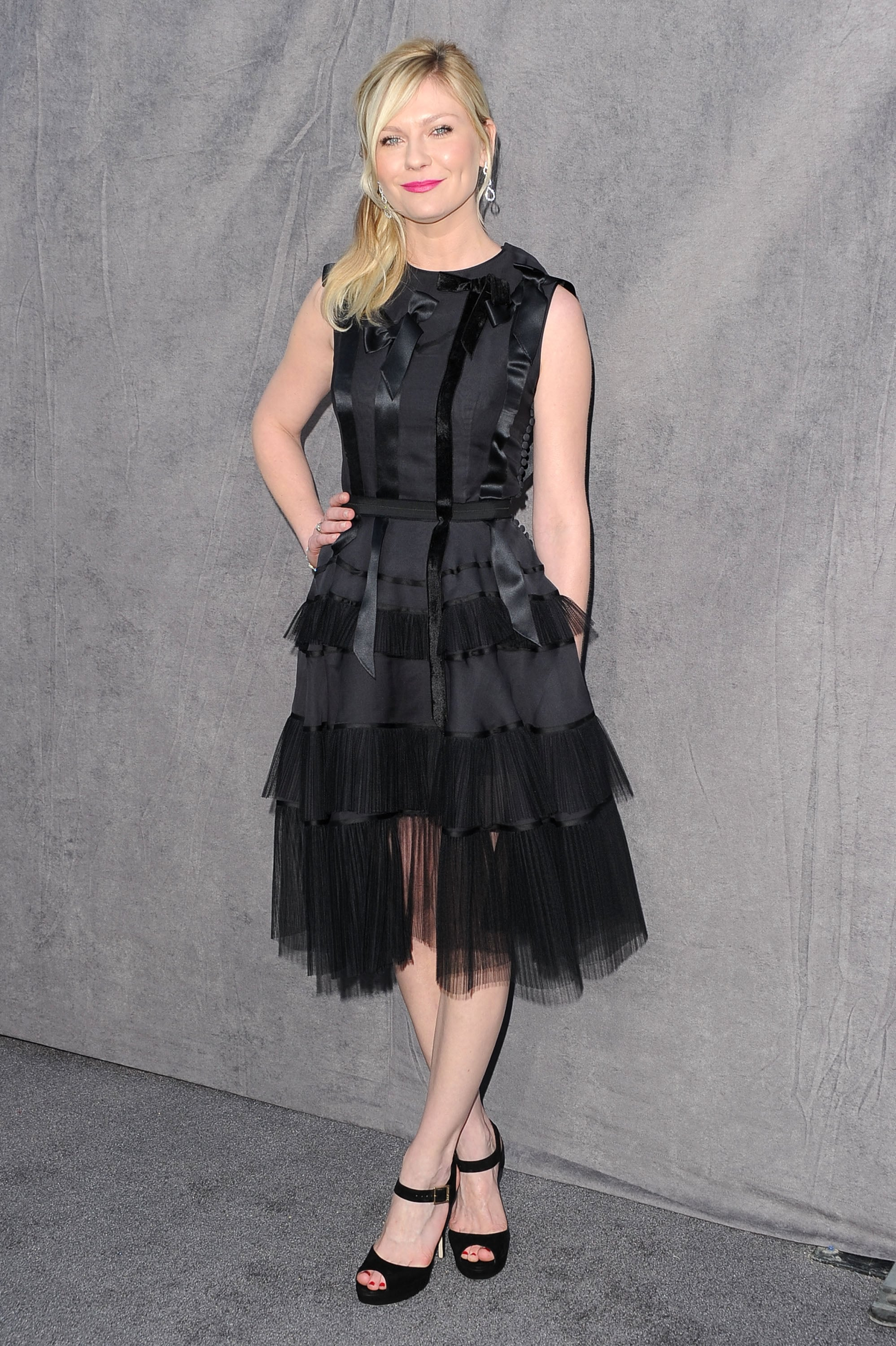 Kirsten Dunst in a black Dior dress at the 2012 Critics' Choice Movie Awards.