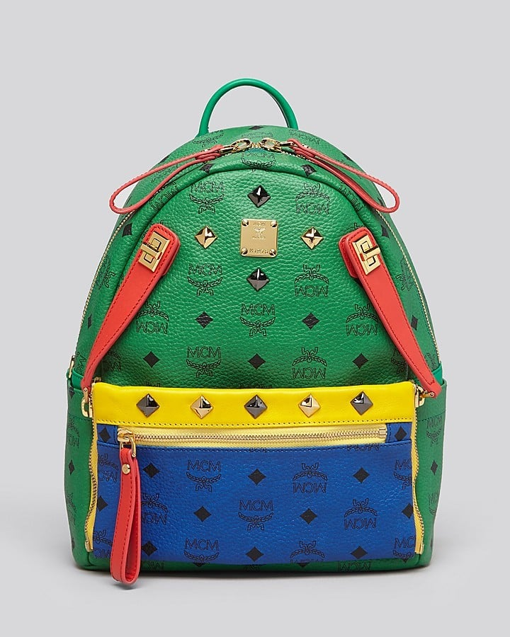 all the talking points you need for this mcm backpack popsugar fashion uk. Black Bedroom Furniture Sets. Home Design Ideas