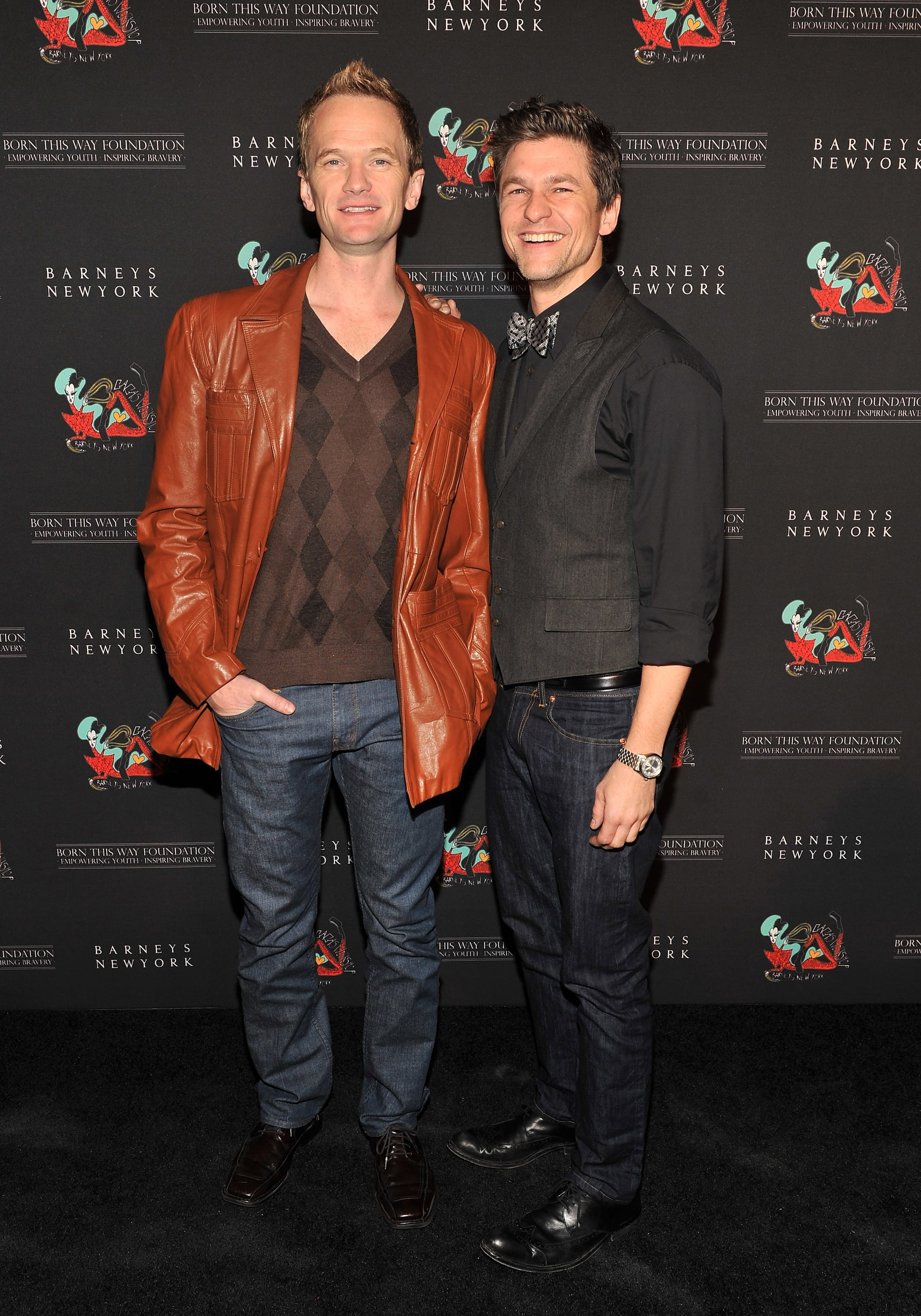 David Burtka and Neil Patrick Harris went together to Lady Gaga's party at Barneys.