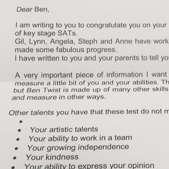 Teacher Writes Letter About Failed Test to Boy With Autism