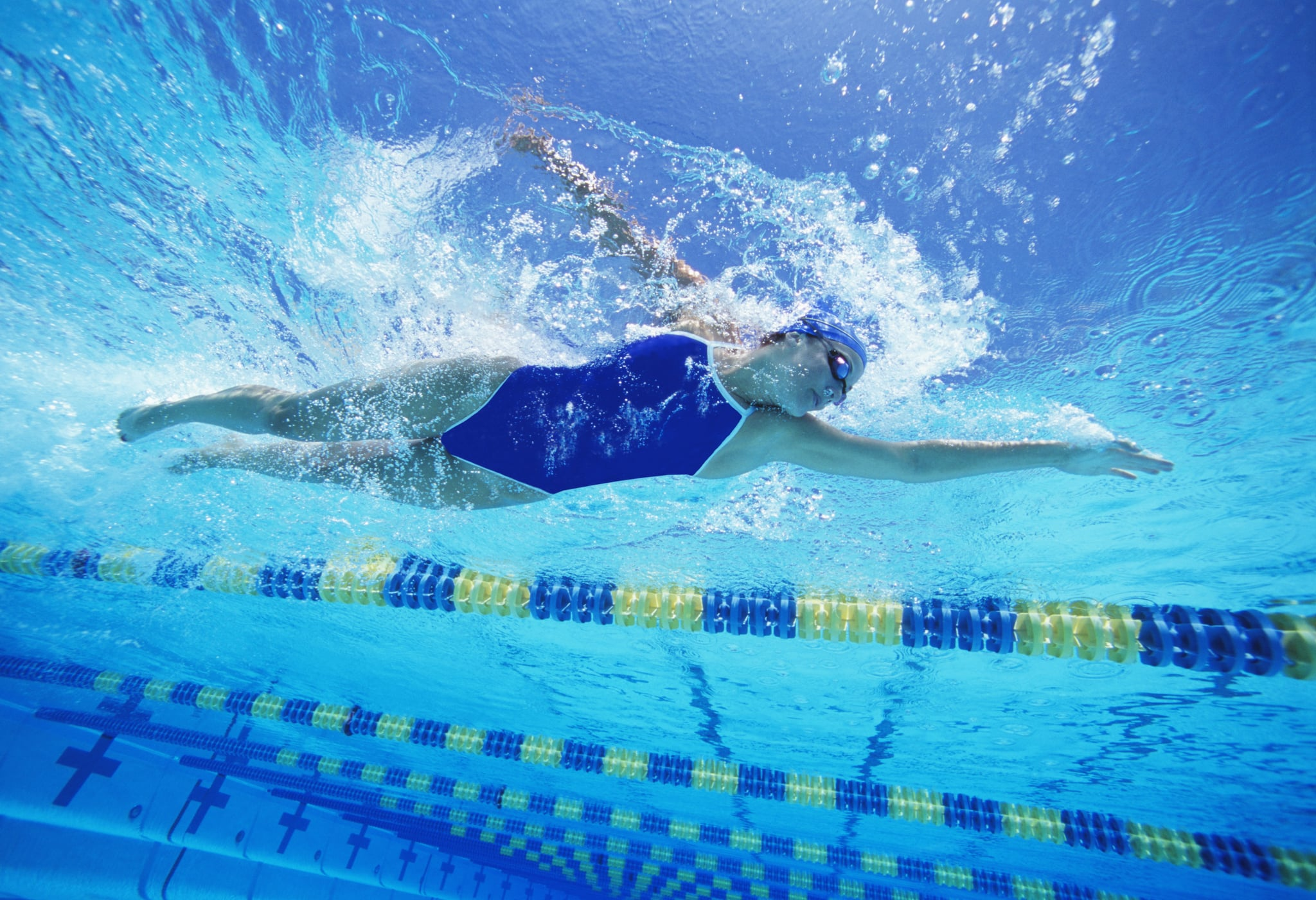 Swimming Workout For Women With Intervals Popsugar Fitness