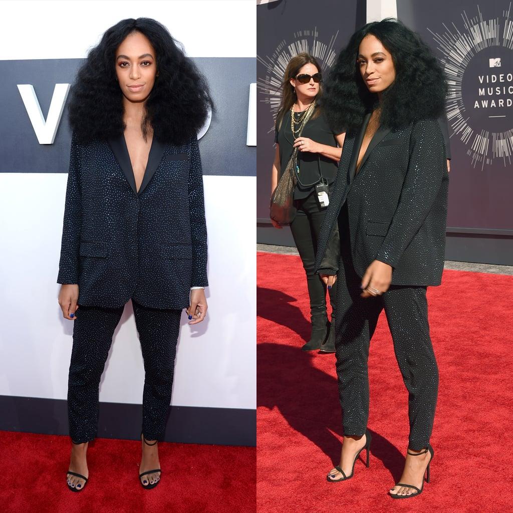 Solange Knowles H&M Suit at VMAs 2014 | POPSUGAR Fashion
