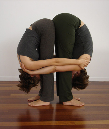 slideshow of partner yoga poses  popsugar fitness